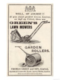 British Advertisement for a Lawn Mower Giclee Print