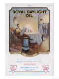 Advertisement for Royal Daylight Oil for Lighting Cooking and Heating Giclee Print