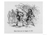Robin and the Beggar Fight with Quarter-Staffs Giclee Print