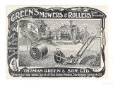 British Advertisement for a Lawn Mower and Garden Roller Giclee Print