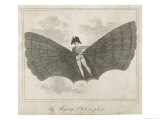 The Flying Man, a Proposal from the Napoleonic Era Giclee Print