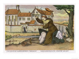Monk Gives a Nun an Affectionate Spanking Giclée-tryk