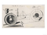 Clock Using an Inclined Plane Designed by Maurice Wheeler Rector of Sibberton Giclee Print