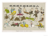 The Buddhist Concept of the Cycle of Re-Birth: The Soul is Born Again as a Bird an Insect an Animal Giclee Print