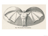 Flying Man Project of Herr Wechmar of Austria Giclee Print