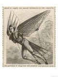 Flying Man Project of Mr. Quimby of Wilmington Delaware Giclee Print