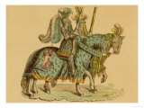 Two Armed Warriors on Horseback 3 of 4 Giclee Print