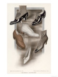 Selection of Shoes of the Period Giclee Print