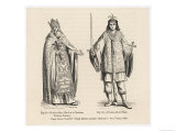 Prester John Legendary Christian King and Priest of the Middle Ages Pictured Here with His Page Giclee Print