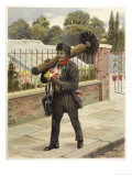 Young Chimney Sweep Clutching a Posy Giclee Print