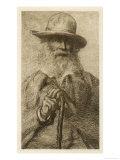 Walt Whitman American Writer Giclee Print