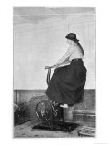 Girl on an Exercise Bike in the Gymnasium of the Titanic Giclee Print