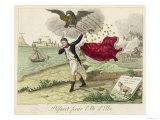 Napoleon Exiled to Elba, a French View Giclee Print
