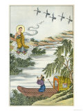 The Buddha Needing to Cross the Ganges Summons a Little Cloud Which Dutifully Ferries Him Over Giclee Print