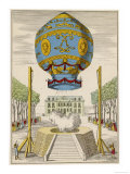 First Manned Balloon Reproduction procédé giclée