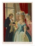 Giuseppe Balsamo Known as Cagliostro Reads the Hand of Marie Antoinette Premium Giclee Print