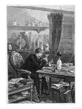 Benjamin Franklin American Statesman Scientist and Philosopher Working in His Study Giclee Print