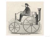 An American Steam-Powered Motor-Cycle Giclee Print