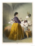 In Scutari Florence Nightingale Attends a Patient Giclee Print