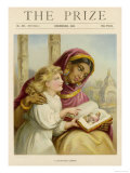 Little White Girl Teaches an Asian Woman About Jesus Giclee Print