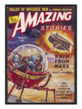 The Raid from Mars&#39; (Miles J Breuer) Martians Raid Earth in Search of Radium Giclee Print