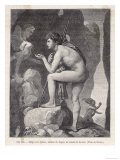 Oedipus and Sphinx Giclee Print