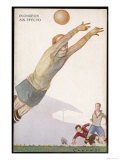 Goalkeeper Makes a Failed Attempt to Save the Ball Giclee Print