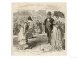 Ladies Croquet Match at the All England Club Wimbledon Giclee Print