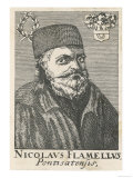 Nicolaus Flamel, French Occultist, Moneylender and Alchemist, Giclee Print