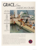 Advertisement for Grace Line Cruises Giclee Print