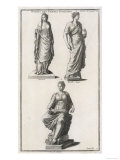 Roman Women in Various Styles of Costume Giclee Print