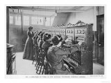 The Switchboard of the National Telephone Company United Kingdom Premium Giclee Print