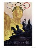 Jeux Olympiques Berlin 1946 - Affiche Reproduction procédé giclée