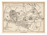 Plan of the Botanical Gardens Giclée-Druck