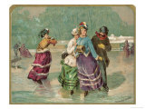 Skating Around the River Impression giclée