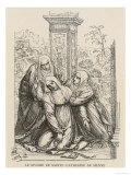 Miraculous Heart Transplant Saint Catherine of Siena Exchanges Hearts, Temporarily, with Jesus Giclee Print