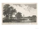 Kew Gardens c.1770 Reproduction procédé giclée