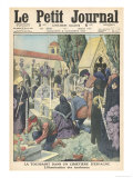 All Saints' Day: Honouring the Dead with Candles in a Spanish Cemetery Giclee Print