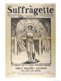 "Front Cover of ""The Suffragette"" Dedicated to Emily Davison Giclee Print"