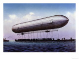 The First Zeppelin, LZ.1, Makes Its Maiden Flight Over the Bodensee Giclee Print