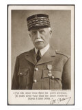 Marshal Philippe Petain a Propaganda Message in 1940 Giclee Print