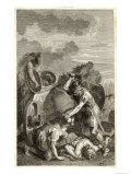 Agamemnon Slaying the Two Sons of Antenor Giclee Print