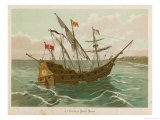 Columbuss Caravel Formerly the Marigalante Giclee Print