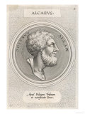 Alcaeus of Mytilene Greek Poet Giclee Print