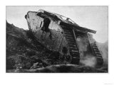 British Tank in Action in France Giclee Print