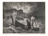 Charon Ferries Dante and Virgil Across the Styx the River Giclee Print