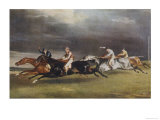 Horse Race in Progress Giclee Print