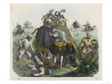 The Climax of a Tiger Hunt in India, Huntsmen Giclee Print