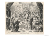 Henry VIII Tramples on Pope Clement VII Giclee Print