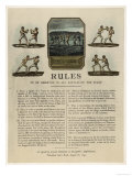 The First Rules of Boxing Published August 16th 1743 Reproduction giclée Premium